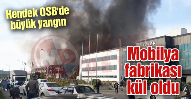 Hendek OSB'de büyük yangın!