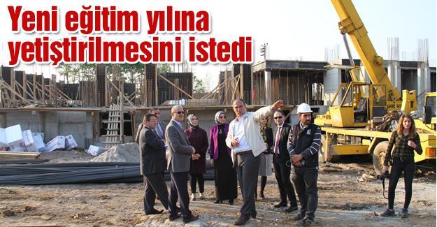 Milli Eğitim Müdürü Durmuş okul inşaatlarını gezdi