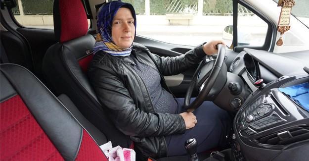 O Sakarya'nın tek kadın taksi şoförü
