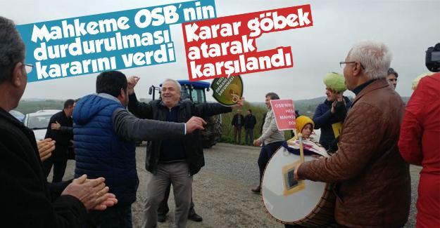 OSB'nin durdurulma kararını göbek atarak karşıladılar