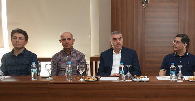 SASKİ bürokratlarıyla toplantı