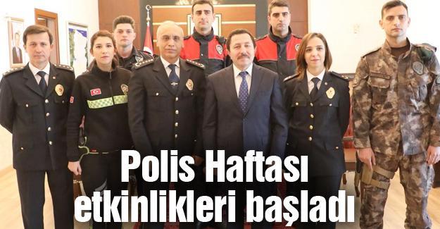 Vali Balkanlıoğlu'na Polis Haftası ziyareti