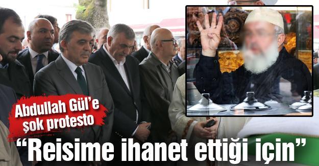 Abdullah Gül'e şok protesto