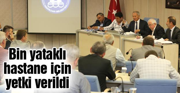 Adapazarı Meclis toplantısı yapıldı