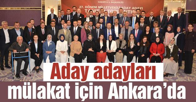 Aday adayları mülakat için Ankara'da