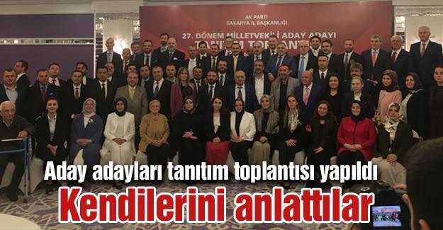Aday adayları tanıtım toplantısı yapıldı