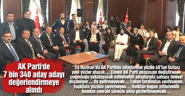 AK Parti'de 7 bin 340 aday adayı değerlendirmeye alındı