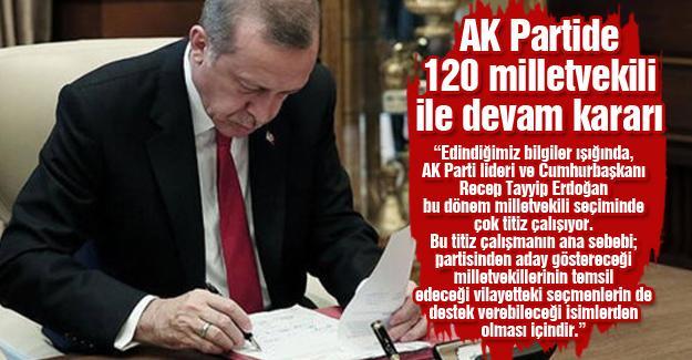 AK Partide 120 milletvekili ile devam kararı