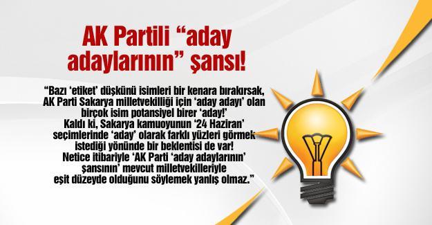 """AK Partili """"aday adaylarının"""" şansı!…"""