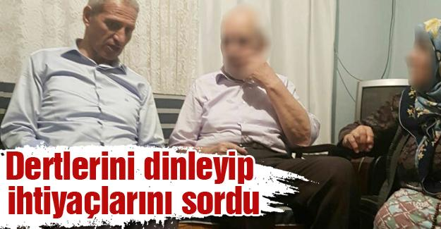 Başkan Dişli ilk iftarını yaşlı çiftin evinde yaptı
