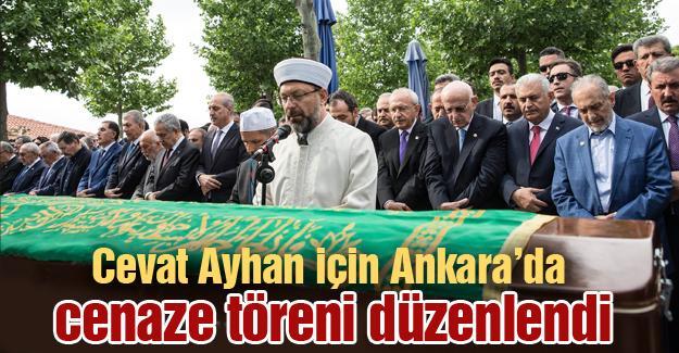 Cevat Ayhan için Ankara'da cenaze töreni düzenlendi