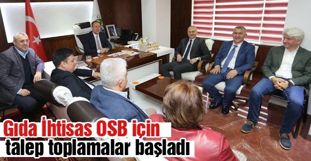 Gıda İhtisas OSB için talep toplamalar başladı