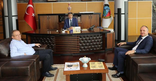 İlçe Emniyet Müdürü'nden Başkan Alemdar'a ziyaret