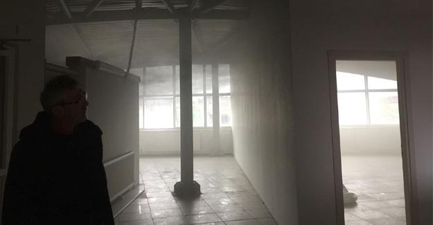 İş-Kur'un eski binasında yangın çıktı
