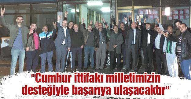 MHP'li aday adayı Kaba ilçe ziyaretlerini sürdürüyor