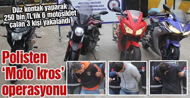 Polisten 'Moto kros' operasyonu