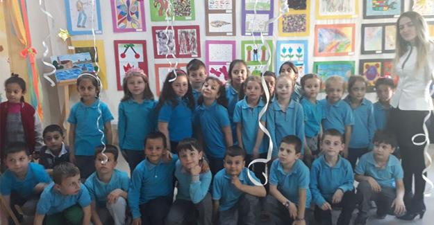 Şehit Mustafa Özen İlkokulu'nda resim sergisi