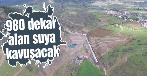 Turgutlu göletinde çalışmalar sürüyor