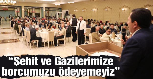 Vali Balkanlıoğlu Şehit Aileleri ve Gazilerle iftar yaptı