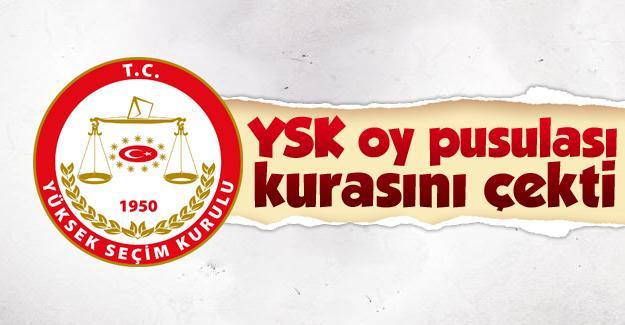 YSK oy pusulası kurasını çekti