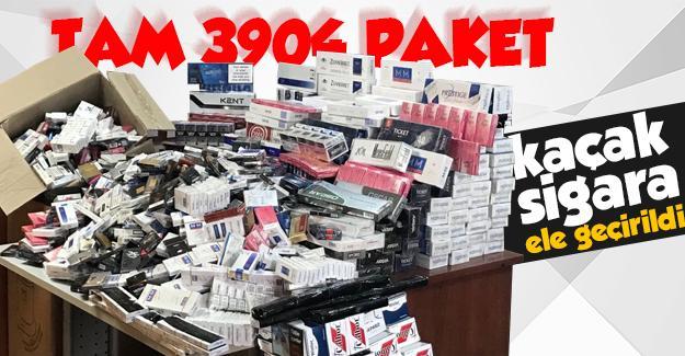 3 bin 904 paket kaçak sigara yakalandı