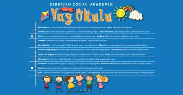 Serdivan çocuk akademisi'nden tatil tadında yaz okulu