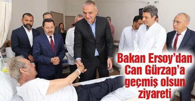 Bakan Ersoy'dan Can Gürzap'a geçmiş olsun ziyareti