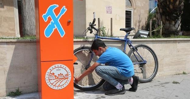 Bisiklet istasyonları ile kolay bakım