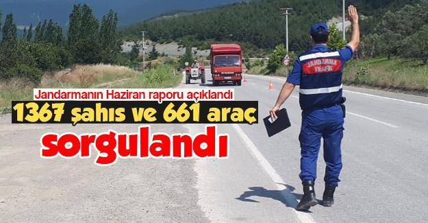 Jandarmanın Haziran raporu açıklandı