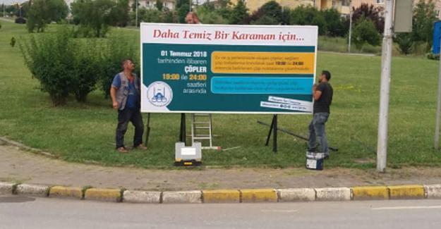 Karaman ve Camili'de çöp poşet uygulaması başladı