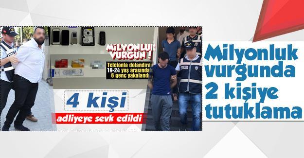 Milyonluk vurgunda 2 tutuklama