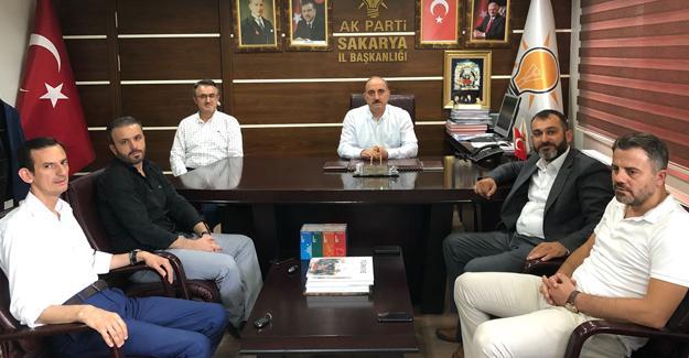 Sakaryaspor Yönetiminden Başkan Kılıç'a ziyaret