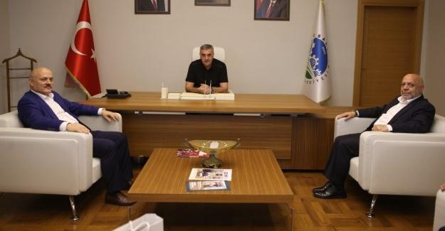 Başkan Toçoğlu Genel Başkan Arslan'ı ağırladı