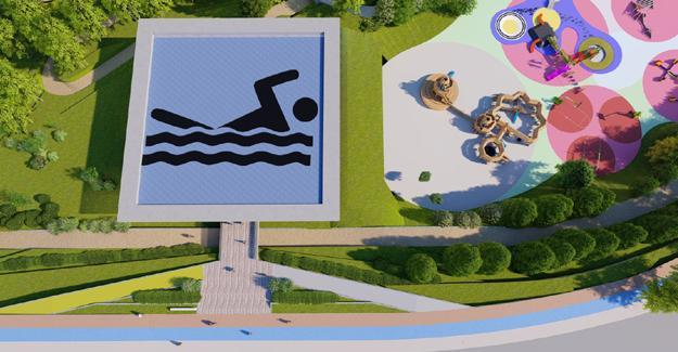 İşte Yenikent'e yapılacak havuz
