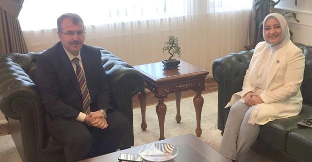 Milletvekili Atabek'ten, Bakan Yardımcısı Eldemir'e ziyaret