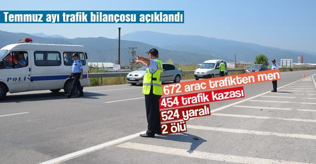 Temmuz ayı trafik bilançosu açıklandı