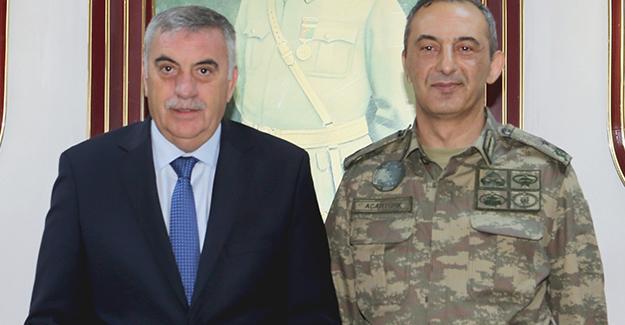 Toçoğlu'ndan Tugay Komutanı Acartürk'e ziyaret