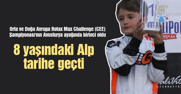 8 yaşındaki Alp tarihe geçti