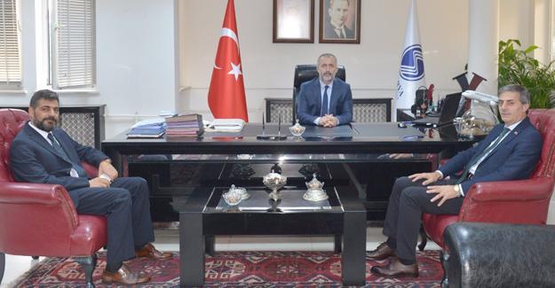 Başkan Alemdar SAÜ Rektör'ü Fatih Savaşan'ı ziyaret etti