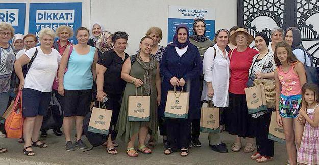 Bin 500 kadın sosyal tesislere misafir oldu