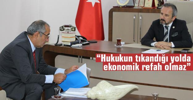 Milletvekili Akar'dan, Başkan Kazan'a ziyaret