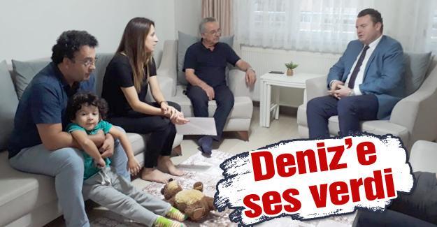 Milletvekili Bülbül'den kas hastası çocuğa ziyaret