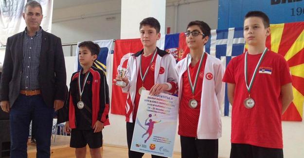 3 ayrı dalda Balkan Şampiyonu oldu