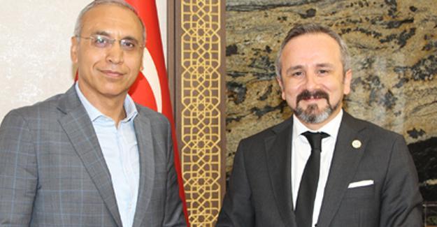 Başkan Kazan veda ziyaretlerini sürdürüyor