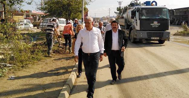 CHP İl Başkanı Isır Kaynarca'da incelemelerde bulundu