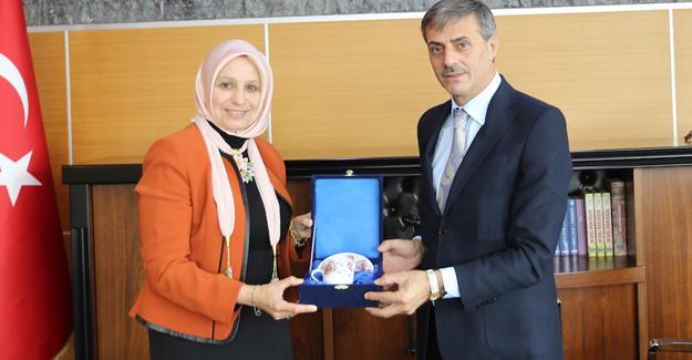 Milli Eğitim Müdürü Durmuş Başkan Alemdar'ı ziyaret etti