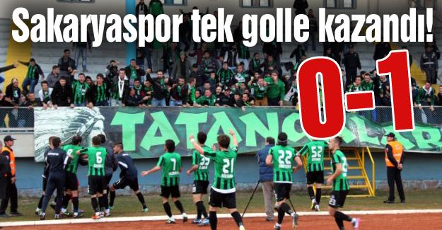 Sakaryaspor tek golle kazandı! 0-1