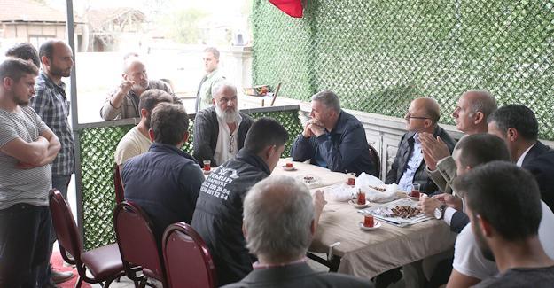 Toçoğlu'dan Karapürçek'e ziyaret