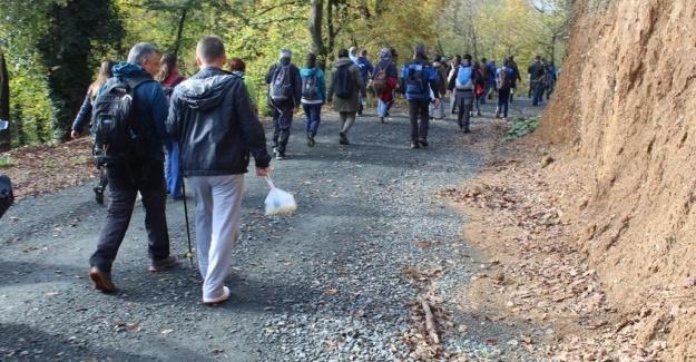 Öğretmenler Günü'nde doğada yürüdüler