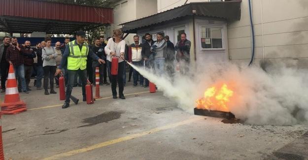 SEDAŞ'ın yangın tatbikatı gerçeğini aratmadı